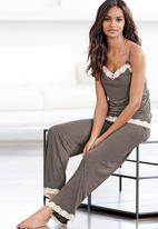 Next - Lace trim pyjama set mid Grey