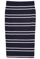 Next - Navy striped tube skirt Navy