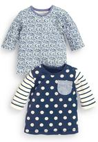 Next - Ditsy And Spot T-Shirt 2-Pack Blue/White