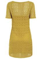 Next - Crochet tunic in ochre Yellow