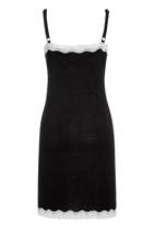 Next - Viscose rich slip dress Black