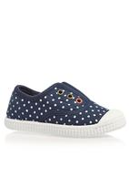 Next - Laceless Low-Top Navy Spot