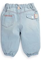 Next - Girl Embroidered Denim Crops Pale Blue