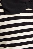 Next - Monochrome striped bow top Black/White