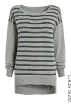 Next - Striped fashion sweater Grey