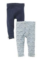 Next - Ditsy and marl leggings 2-pack Mid blue