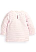 Next - Stripe Bunny T-Shirt Pale Pink