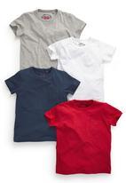 Next - Plain T-Shirts 4-Pack Multi-Colour