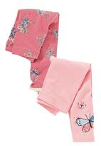 Next - Butterfly Leggings 2-Pack Mid Pink