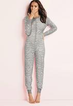 Next - Graffiti print onesie pale Grey