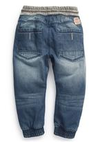 Next - Rib Waist Jeans Mid Wash Mid Blue