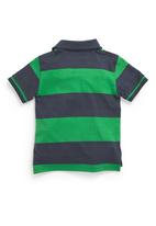 Next - Short-Sleeve Stripe Polo Shirt Multi-Colour