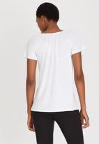 Cherry Melon - Off The Shoulder Top White