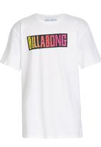 Billabong  - Retro Word Tee White