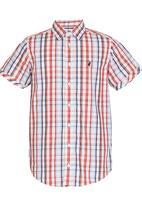 POLO - Bruce SS Check Shirt Multi-colour