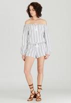 Billabong  - Striped Gypset Haven Top Black and White