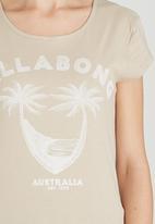 Billabong  - Beach Waves Staple Tee Stone