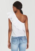 STYLE REPUBLIC - One Shoulder Blouse White