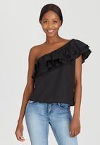 STYLE REPUBLIC - One Shoulder Blouse Black