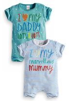 Next - 2-Pack Babygro Multi-colour