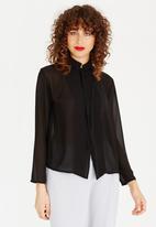 Somerset Jane - Adora Wrap Shirt Black