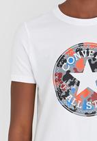 Converse - Camo Fill Chuck Patch Crew Tee White