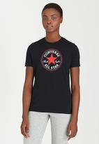 Converse - Solid Chuck Patch Crew Tee Black