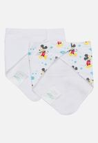 Character Baby - Mickey Mouse 2 Pack Bandana Bibs Multi-colour