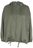 c(inch) - Ruched Back Jacket Dark Green
