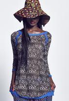 Marianne Fassler - Raglan Long Sleeve Gauze Multi-colour