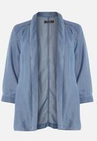 EVANS - Denim Waterfall Jacket Mid Blue