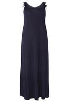 EVANS - Tie Detail Maxi Dress Navy