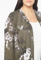 EVANS - All-over Print Kimono Khaki Green