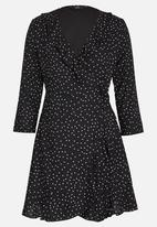 ONLY - Emma Wrap Dress Black and White