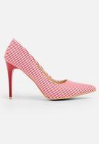 Footwork - Stripe Detail Heels Red
