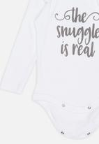 Funky Shop - Snuggle baby grow - white