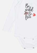 Funky Shop - Be wild baby grow - white