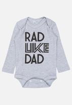 Funky Shop - Rad like dad baby grow - grey