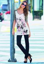 Next - Floral graphic tunic in white White