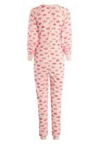 Next - Lip print onesie pale Pink