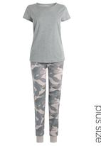 Next - Camo-print pyjamas Grey