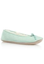 Next - Blue microsuede ballerina slippers pale Blue