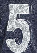 Next - Lace Three-quarter Sleeve Top Navy