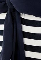 Next - Colourblock bow back tunic Navy