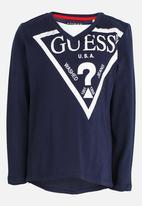 GUESS - Boys Tri Guess Tee Dark Blue