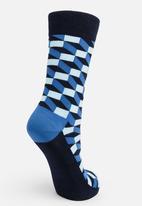 Happy Socks - Filled optic socks - blue