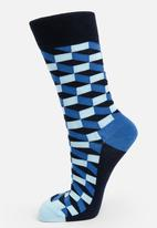 Happy Socks - Filled optic socks - blue