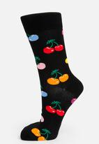 Happy Socks - Cherry socks - black & yellow
