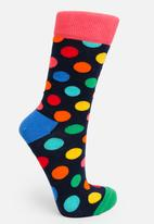 Happy Socks - Big dot sock - pink & blue