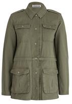 Noisy May - Double Long Sleeve Jacket Khaki Green